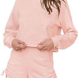 Women's Short Pajamas Set Long Sleeve Tops and Shorts PJ Set Casual 2 Piece Sleepwear Loungewear ...   Amazon (US)