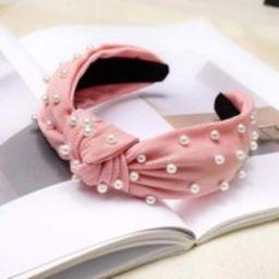 Pink Headband, Pearl Headband, Knotted Hairbands, Tylish Fashion Hairband, Headbands For Women, Wide   Etsy (US)