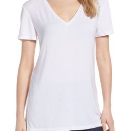 Halogen® V-Neck Tunic T-Shirt (Regular & Petite) | Nordstrom | Nordstrom