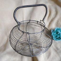 Old Fil der fer Egg basket shabby chic brokante french chic | Etsy | Etsy (US)