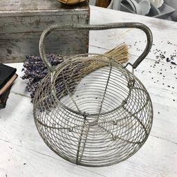 Vintage Large French Egg Basket/Metal Basket/Cottage | Etsy | Etsy (US)