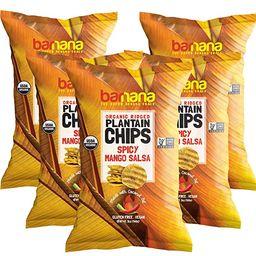 Barnana Organic Plantain Chips - Spicy Mango Salsa - 5 Ounce, 5 Pack - Salty, Crunchy, Thick Slic...   Amazon (US)