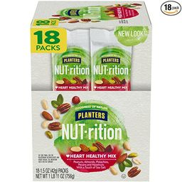 Nut-Rition Heart Healthy Mix, 1.5 oz Bags (Pack Of 18) - On-The-Go Snack, Work Snack, School Snac...   Amazon (US)