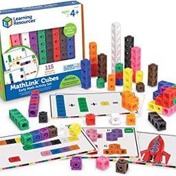 Learning Resources Early Math MathLink Cube Activity Set, Math Blocks, Early Math Skills, Math Cu...   Amazon (US)