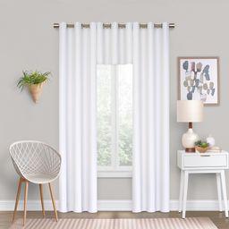 Eclipse Dayton Solid Color Blackout Grommet Single Curtain Panel, White, 42 x 84 | Walmart (US)
