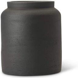 K&K Interiors 15509A-2 8.75 Inch Black Terracotta Pot   Amazon (US)