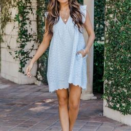 You Found My Heart Light Blue Lace Romper   The Pink Lily Boutique