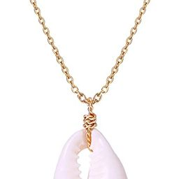 POTESSA Natural Cowrie Shell Choker Necklace for Women Pendant Hippie Adjustable Vsco Beach Jewel...   Amazon (US)