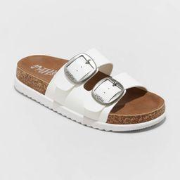 Women's Mad Love Genna Platform Footbed Sandals   Target