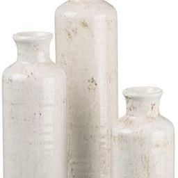 Sullivans Small Vase Set (Ceramic), Rustic Home Decor, Distressed White, Set of 3 Vases (CM2333)   Amazon (US)