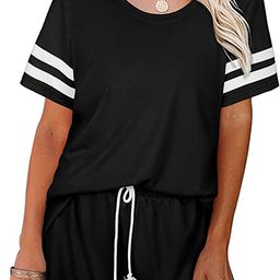 SIEANEAR Womens 2 Pieces Long Sleeve Loungewear Sweatsuit Sets Crewneck Outfits | Amazon (US)