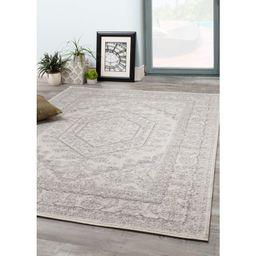 Vanille Oriental Gray/White Area Rug   Wayfair North America