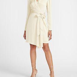 Satin Puff Sleeve Wrap Dress   Express