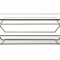 Edward Floor Shelf Coffee Table with Storage   Wayfair North America