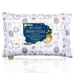 Toddler Pillow with Pillowcase - 13X18 Soft Organic Cotton Baby Pillows for Sleeping - Machine Wa... | Amazon (US)