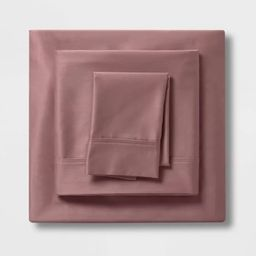 400 Thread Count Solid Performance Sheet Set - Threshold™   Target