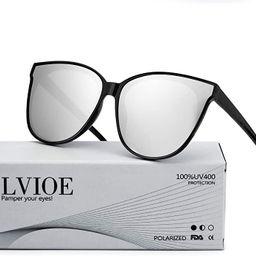 LVIOE Cat Eyes Sunglasses for Women, Polarized Oversized Fashion Vintage Eyewear for Driving Fish... | Amazon (US)