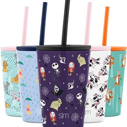 Simple Modern Disney Water Bottle for Kids Reusable Cup with Straw Sippy Lid Insulated Stainless ... | Amazon (US)