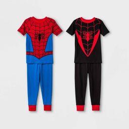 Toddler Boys' 4pc Spider-Man Pajama Set - Red | Target