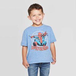 Toddler Boys' Disney Spider-Man Short Sleeve T-Shirt - Heather Blue | Target