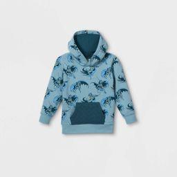 Toddler Boys' Batman Hooded Pullover - Blue | Target