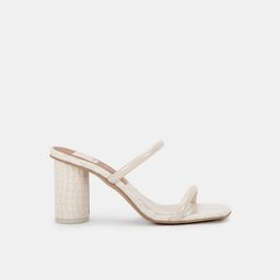 NOLES HEELS IN IVORY PATENT CROCO LEATHER | DolceVita.com