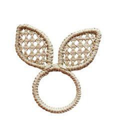 Easter bunny napkin ring iraca/straw | Etsy | Etsy (US)