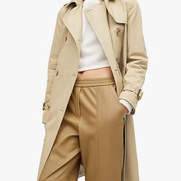 Mango Belt Cotton Trench Coat, Light Beige | John Lewis (UK)