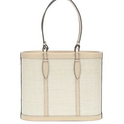 The Basket Small leather and fique tote   Mytheresa (INTL)