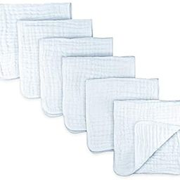Muslin Burp Cloths 6 Pack Large 100% Cotton Hand Washcloths 6 Layers Extra Absorbent and Soft (Wh... | Amazon (US)