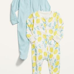 Unisex Footed One-Piece 2-Pack for Baby | Old Navy (US)