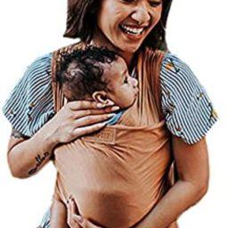 Tuck and Bundle Ezra Baby Wrap - Lightweight Baby Carrier - Sandstone - Best Baby Wrap for Newbor... | Amazon (US)