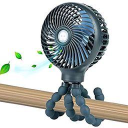 Mini Handheld Personal Portable Fan, Baby Stroller Fan, Car Seat Fan, Desk Fan, with Flexible Tri... | Amazon (US)