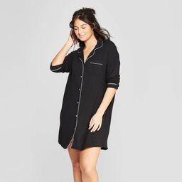 Women's Beautifully Soft Notch Collar Nightgown - Stars Above™ | Target