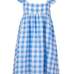'Jojo' Ruffled Sleeves Gingham Dress | Goodnight Macaroon