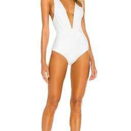 Tori Praver Swimwear Andie One Piece Ribbed in White. - size XS (also in M, S)   Revolve Clothing (Global)