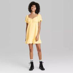 Women's Short Sleeve Sweetheart Ruffle with Tie-Back Dress - Wild Fable™   Target