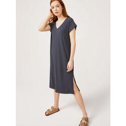 Free Assembly Women's V-Neck Midi Dress with Cap Sleeves | Walmart (US)