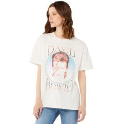Scoop Women's David Bowie Boyfriend T-Shirt with Split Hem | Walmart (US)