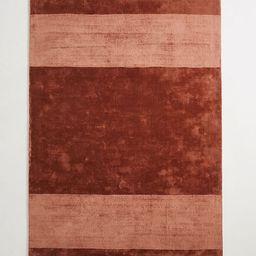 Handloomed Striped Viscose Rug | Anthropologie (US)