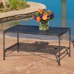 Alexander Outdoor Iron Coffee Table, Black   Walmart (US)