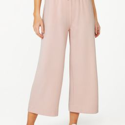 C. Wonder Women's Tie Waist Wide Leg Fleece Sweatpants with Pockets | Walmart (US)