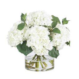 White Hydrangea Vase   Frontgate   Frontgate