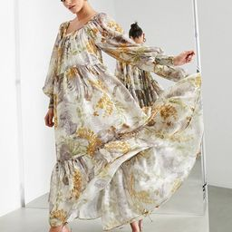 ASOS EDITION oversized maxi dress in floral satin burnout with square neck   ASOS (Global)