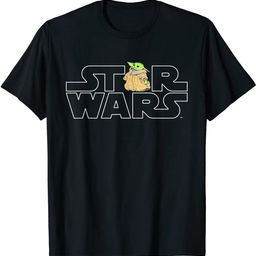 Star Wars Logo and The Child from The Mandalorian T-Shirt   Amazon (US)