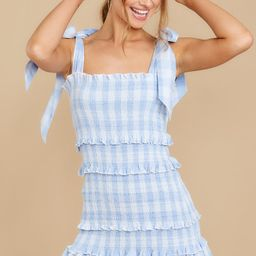 Right About You Blue And White Gingham Dress | Red Dress