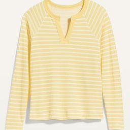 Loose Split-Neck Jersey-Knit Raglan-Sleeve Top for Women   Old Navy (US)