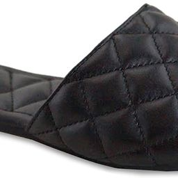 New Women's Braided Quilted Single Band Strap Flat Square Toe Open Slide Sandal | Amazon (US)