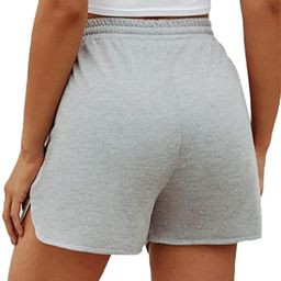SheIn Women's Solid Stretchy Drawstring Waist Track Shorts | Amazon (US)