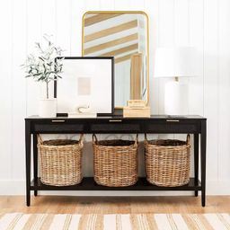 Woven Drawer Console Table Black - Threshold™ designed with Studio McGee   Target